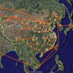 用 Google Earth 来看奥运火炬传递