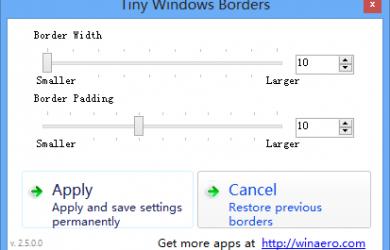 Tiny Windows Borders - 修改 Windows 8 窗口边框 24