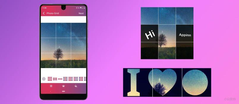 Photo Grids - 为 Instagram/朋友圈 无缝剪裁 9 宫格全景照片[Android] 1