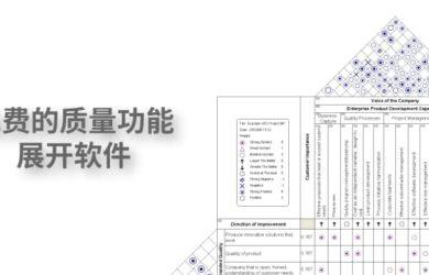 QFD 质量功能展开 - 一个免费的质量功能展开软件[Windows] 25