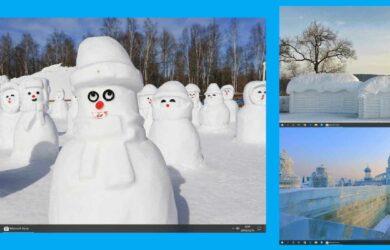 Snow Sculptures - 14 幅图像的 Windows 10 冬日雪景主题,微软官方主题 9