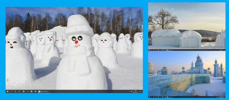 Snow Sculptures - 14 幅图像的 Windows 10 冬日雪景主题,微软官方主题 1