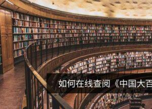 如何免费在线查阅《中国大百科全书》