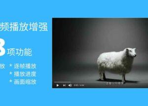 18 项功能,为网页视频播放添加倍速播放、画中画、截图、进度保存等,全程高能快捷键[油猴脚本]