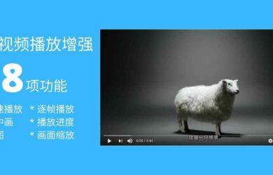 18 项功能,为网页视频播放添加倍速播放、画中画、截图、进度保存等,全程高能快捷键[油猴脚本] 10