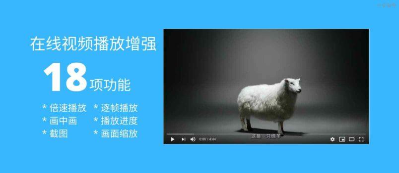18 项功能,为网页视频播放添加倍速播放、画中画、截图、进度保存等,全程高能快捷键[油猴脚本] 4