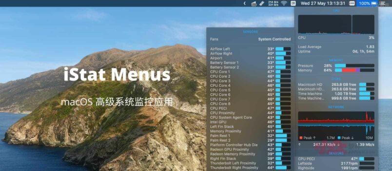 iStat Menus 6 在 BundleHunt 特价,只需要6刀,可激活3台 Mac,支持支付宝 6