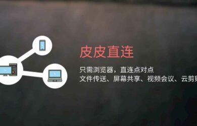 皮皮直连 - 有网就能用,打开浏览器就能传文件、共享屏幕、云剪贴板、视频会议/直播、文字... 16