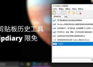 高效的剪贴板历史工具 Clipdiary 限免[Windows] 23
