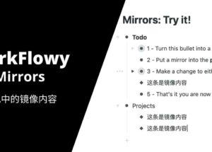 WorkFlowy 发布新功能 WorkFlowy Mirror,可镜像复制内容,多条内容间同步更新