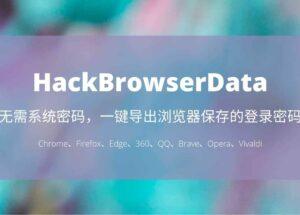 HackBrowserData - 无需密码,一键导出 Chrome、Firefox、Edge、360、QQ、Brave 浏览器保存的登录密码、历史记录、Cookies、书签 9