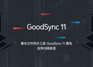 GoodSync 11 限免,著名文件同步工具,可同步 5 台设备,1 年免费,自带内网穿透 23