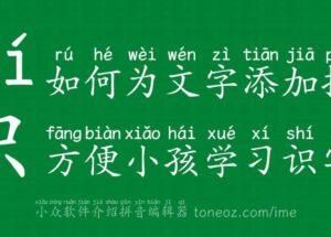 如何为文字添加拼音,方便小孩学习识字? 13