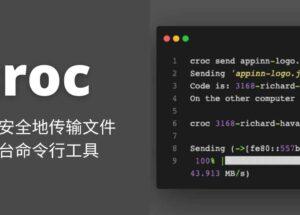 croc - 1 条命令,轻松、安全地传输文件,跨平台命令行工具 9