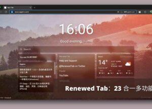 Renewed Tab - 支持 RSS、便签、图片等 23 种小组件的新标签页扩展[Chrome/Firefox] 8