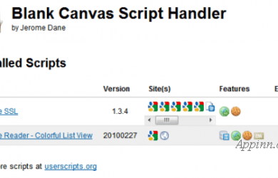 Blank Canvas Script Handler - Chrome Greasemonkey 脚本管理器 9