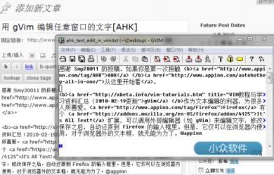 用 gVim 编辑任意窗口的文字[AHK] 30