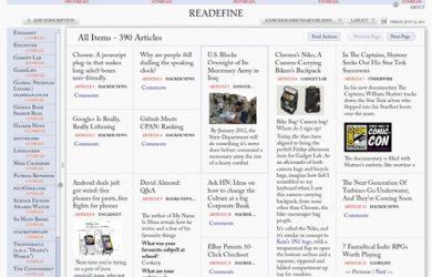 Readfine Desktop - 美观 RSS 订阅 1