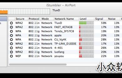 iStumbler - Wifi 信号查询 [Mac] 1