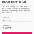 How Long Have I Lived? - 从出生到今天多久了[Android] 9