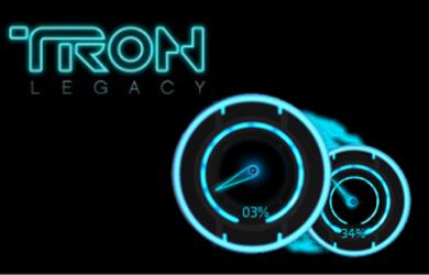 Tron Legacy - 科幻风格 CPU 小工具 21
