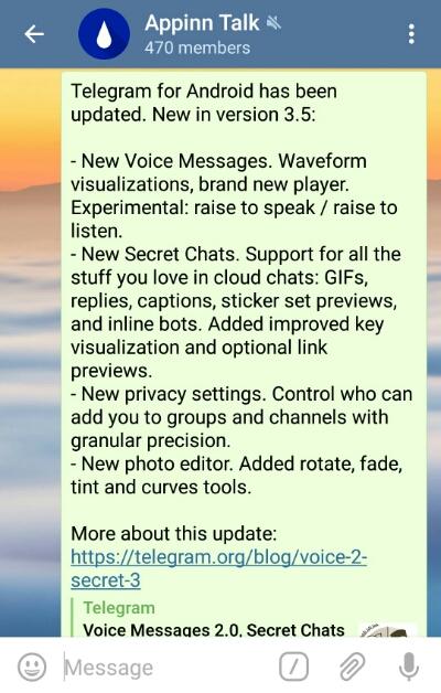 Telegram 新版,加密聊天支持全部内容